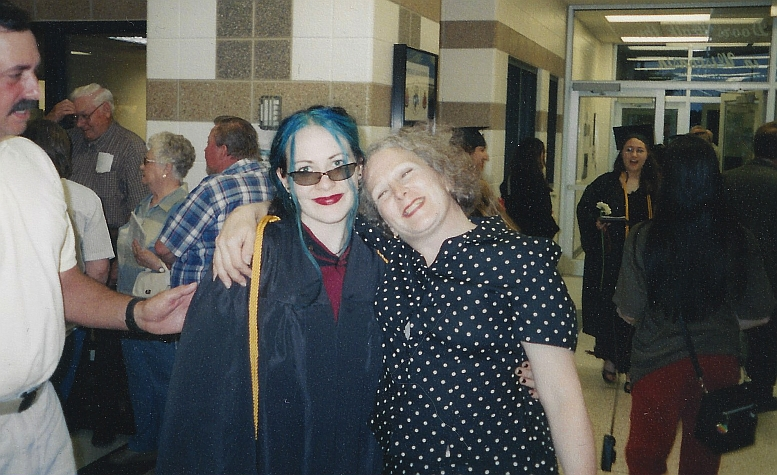 Highschool Graduation June 2004 - Hal and Mom