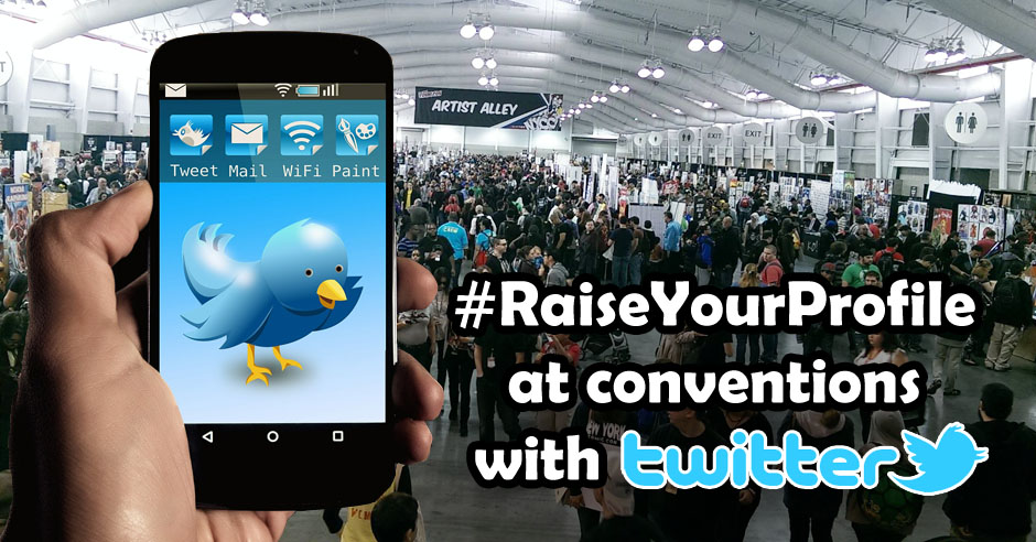 Raise your Profile at sci-fi and comic conventions with Twitter header image
